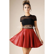 Load image into Gallery viewer, Gigi Red Skater Skirt - Orchid Boutique