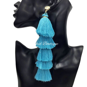 Gina Turquoise Chandelier Earrings - Orchid Boutique