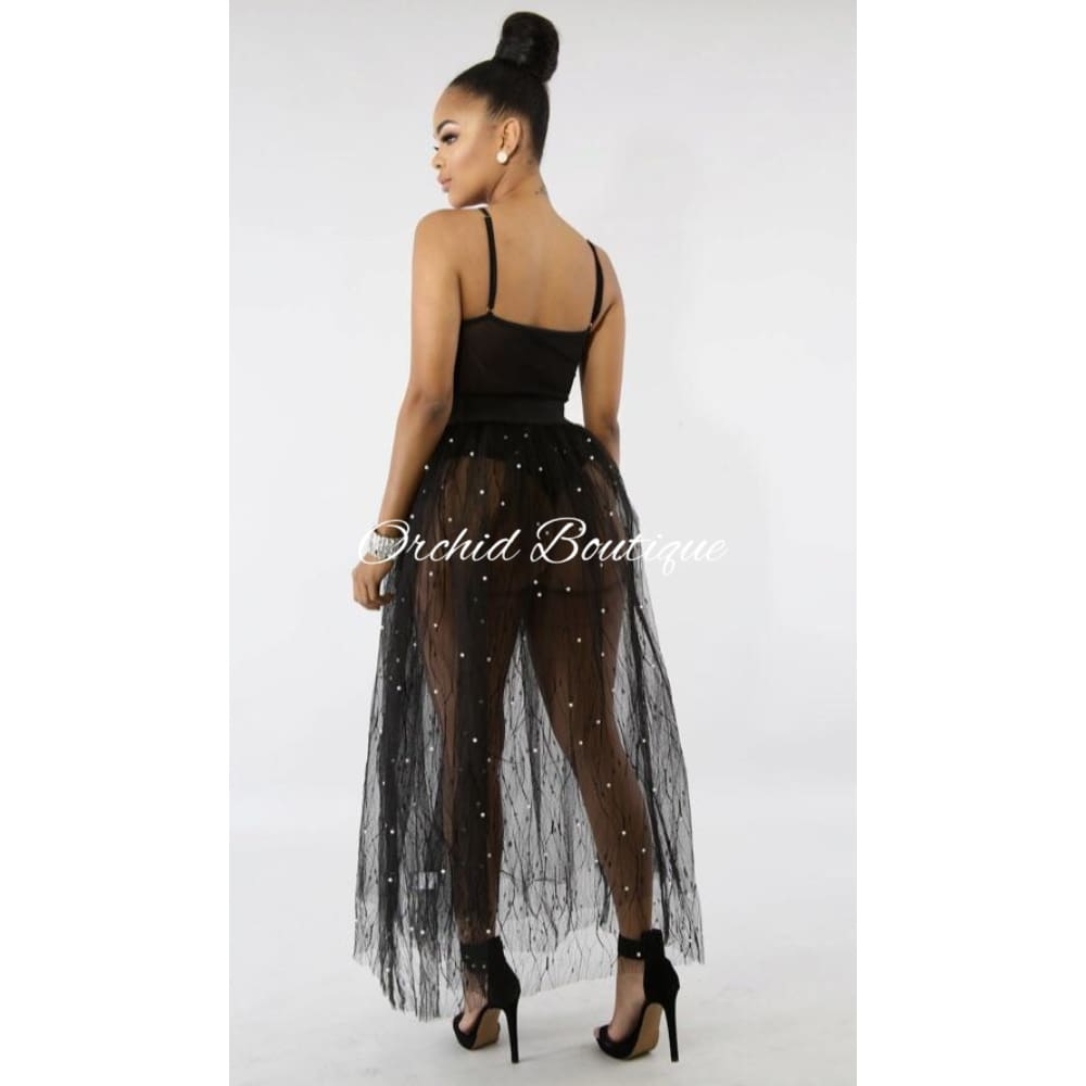 Giselle Black Pearl Skirt - Orchid Boutique
