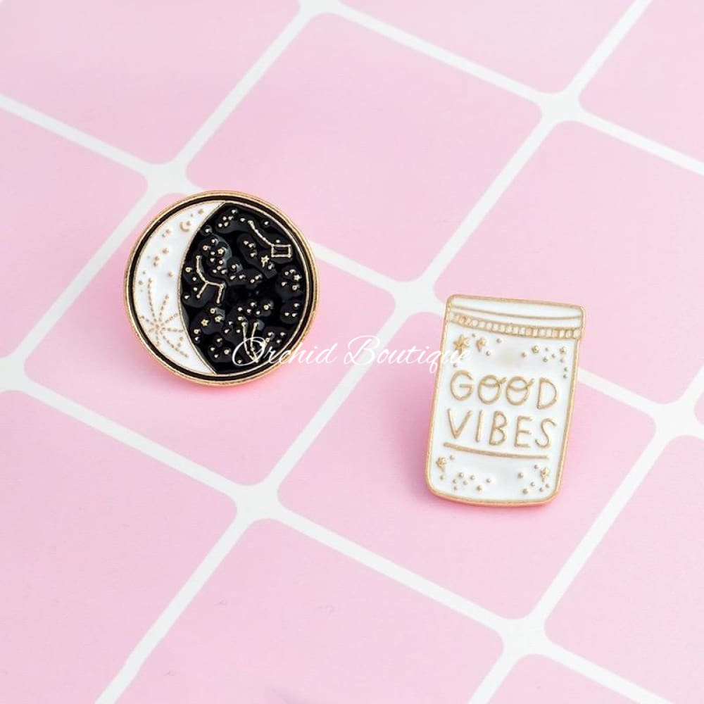 Good Vibes Lapel Pin - Orchid Boutique