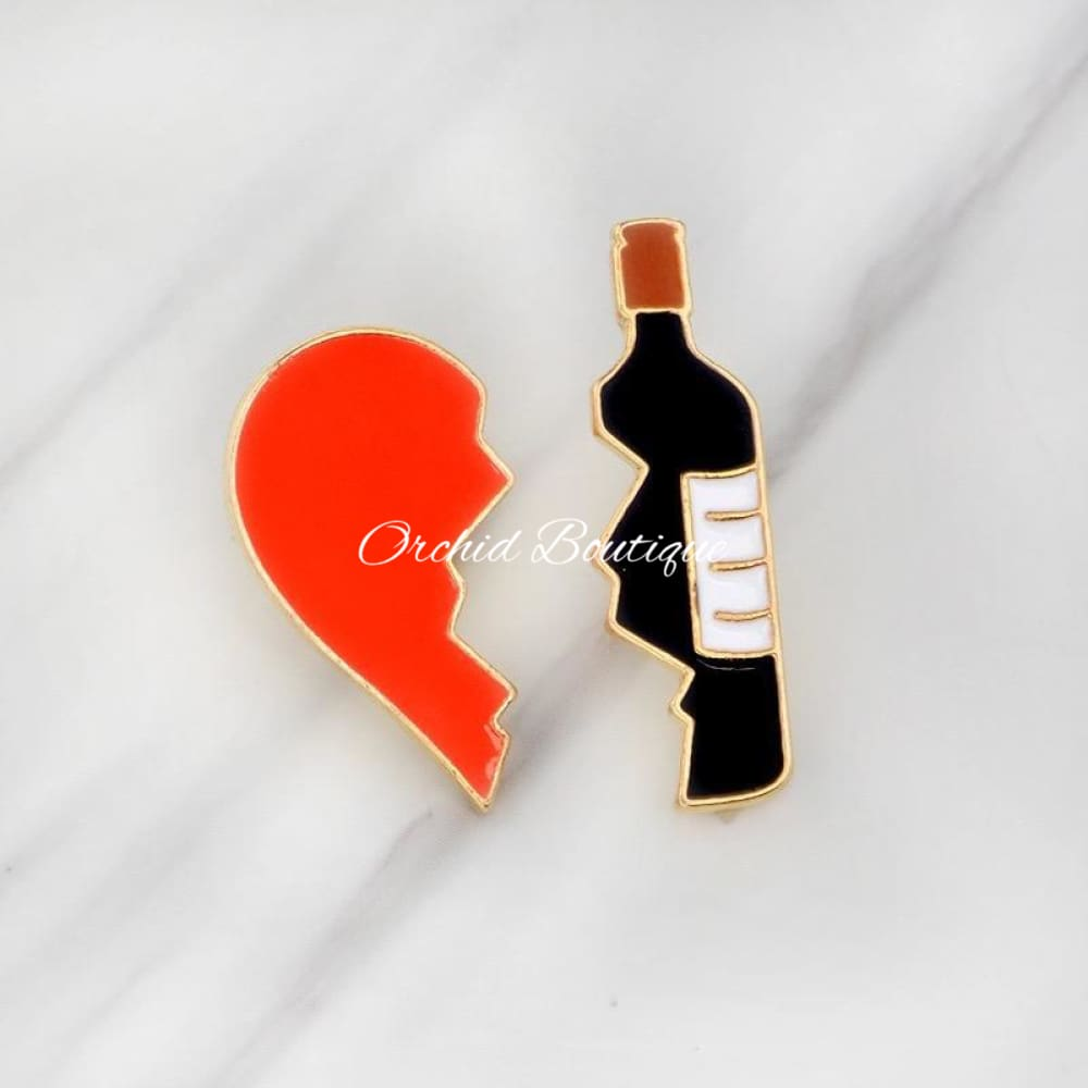 Heartbroken Lapel Pin - Orchid Boutique