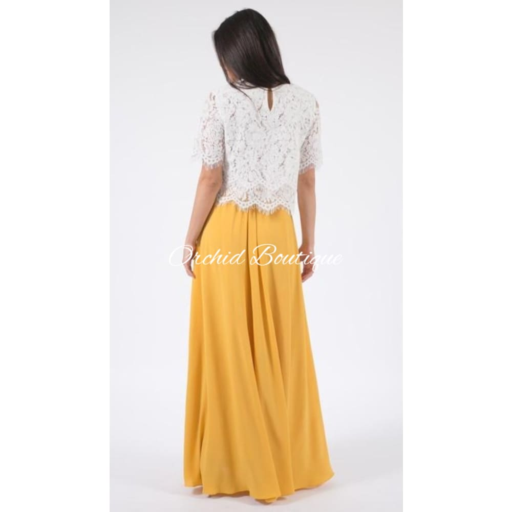 Heavenly Mustard Luxe Maxi Skirt - Orchid Boutique