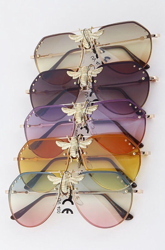 Bee Aviator Sunglasses