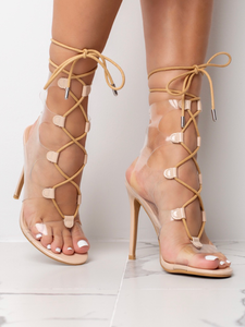 Dazed Nude Rope Heels
