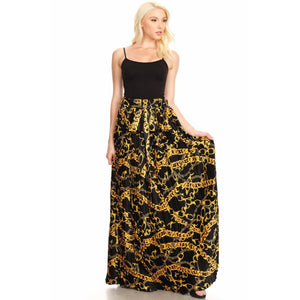 Unchain Me Black Maxi Skirt