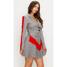 Load image into Gallery viewer, Sharon Plaid Pleated Two Piece Set