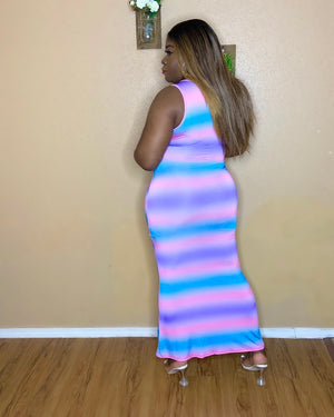 Laura Cotton Candy Maxi Dress