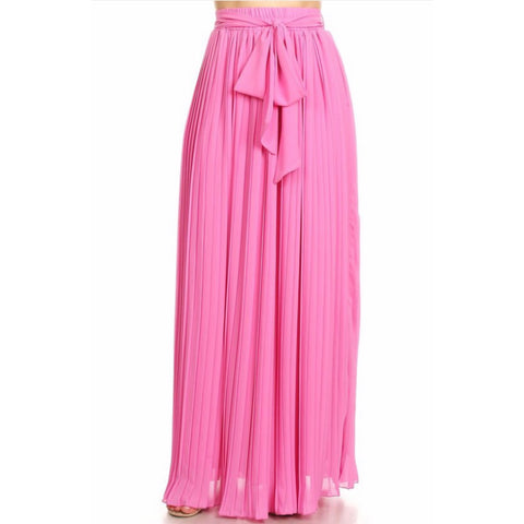 Celine Pleated Maxi Skirt