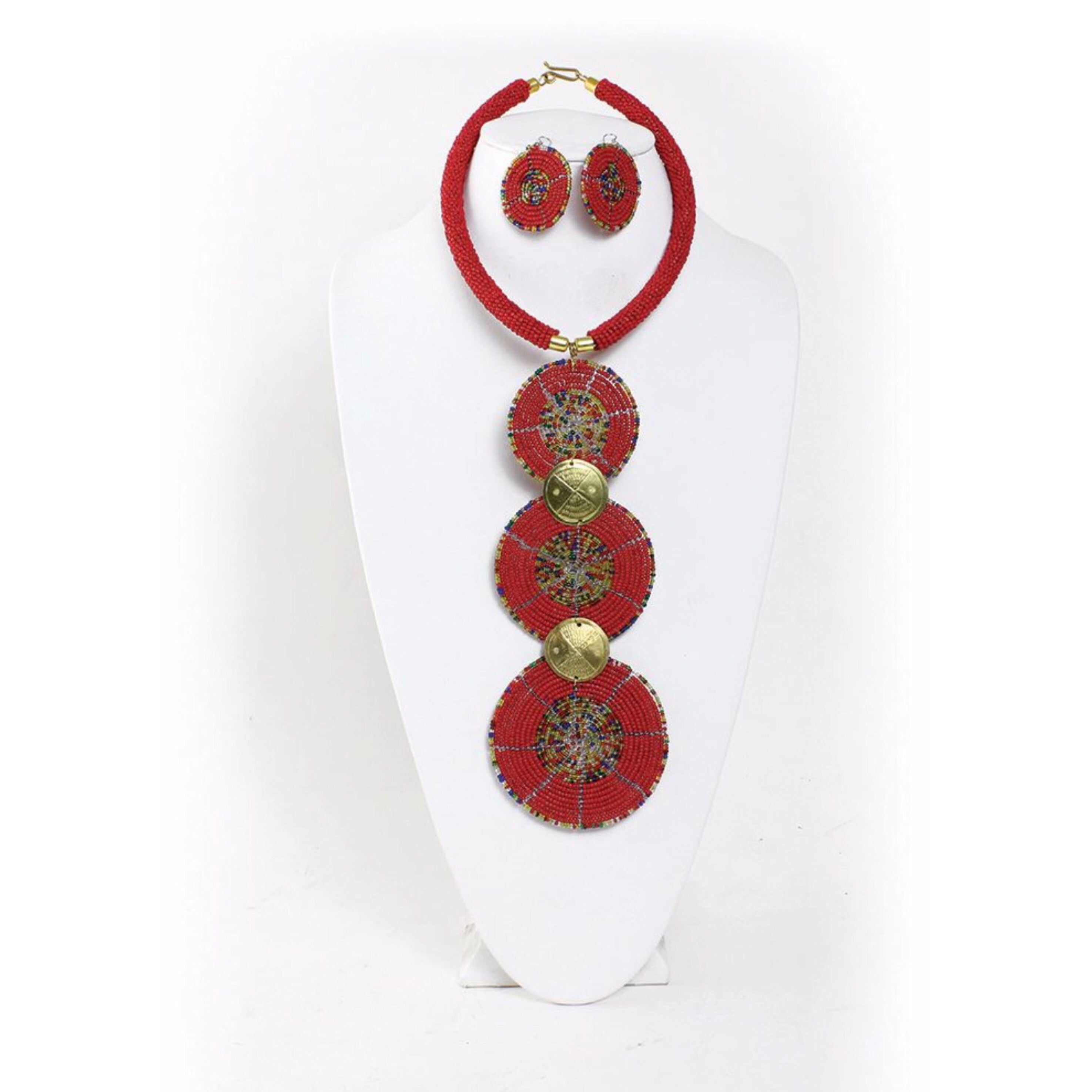 Circle of life Maasai Necklace Set