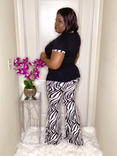 Load image into Gallery viewer, Vogue Zebra Print Two Piece Set