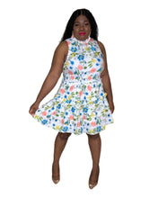Load image into Gallery viewer, Curvy Smock Waist Floral Mini Dress