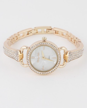 Load image into Gallery viewer, Mother Of Pearl Rhinestone Watch