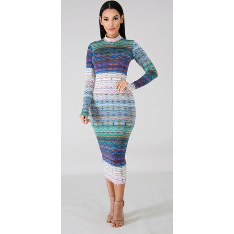 Rebecca Multi Midi Dress
