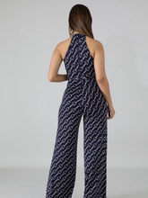 Load image into Gallery viewer, Chain Link Navy Jumpsuit