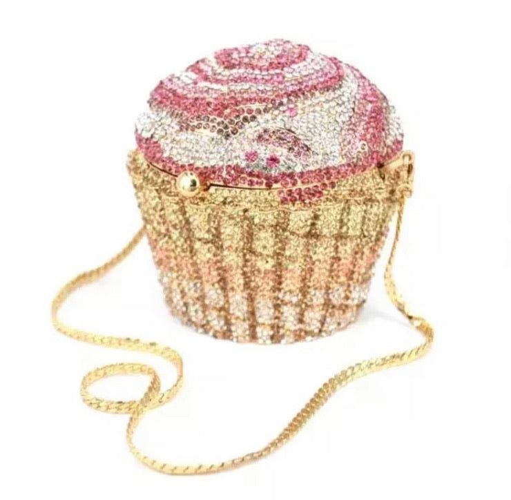 Mini Cupcake Crystal Clutch
