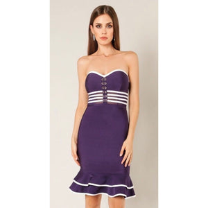 Lillie Purple Bandage Midi Dress