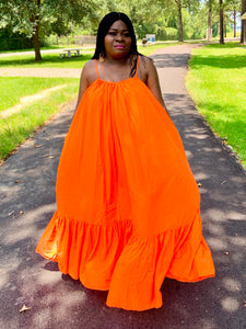 French Connection Orange Maxi Dress