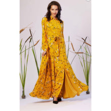 Load image into Gallery viewer, Tiana Mustard Luxe Maxi Dress