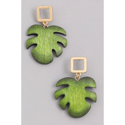 India Palm Earrings