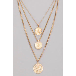 Triple Treat European Coin Necklace