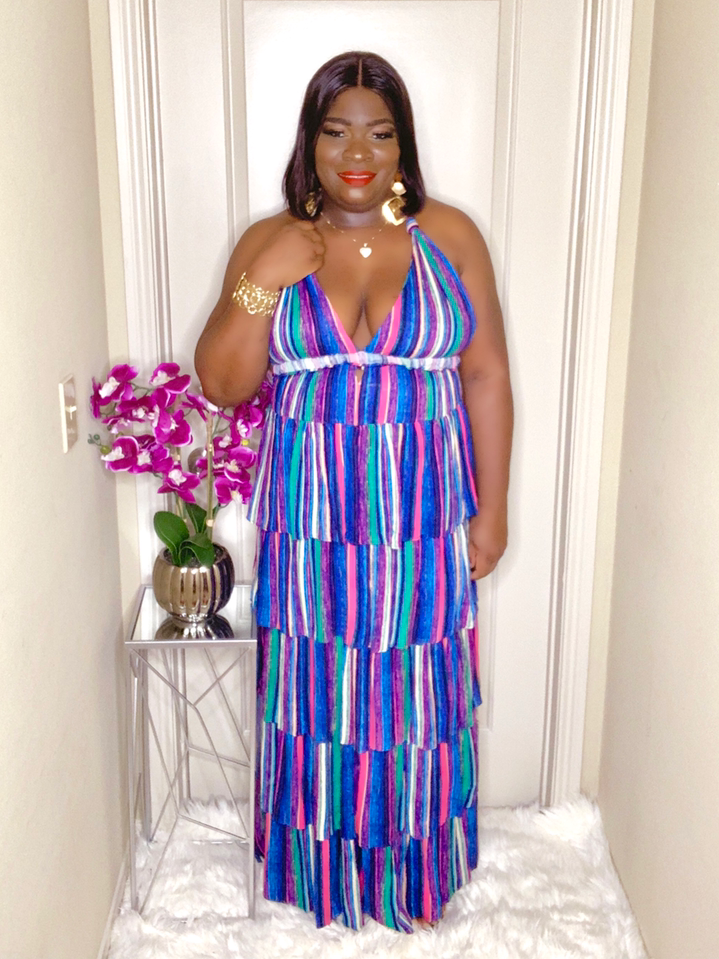 Donna 5-Tier Maxi Dress