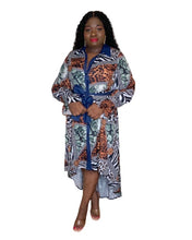 Load image into Gallery viewer, Olivia Mixed Print Hi-Low Dress