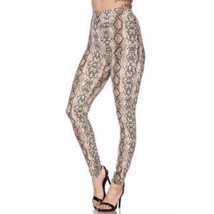 Shelly Nude Snake Pants