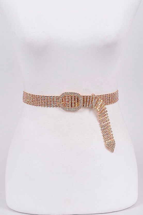 Vicky Crystal Buckle Belt