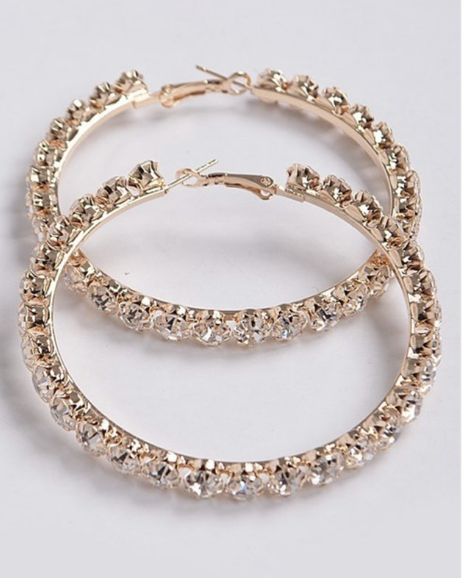 Chrissy Diamond Hoop Earrings