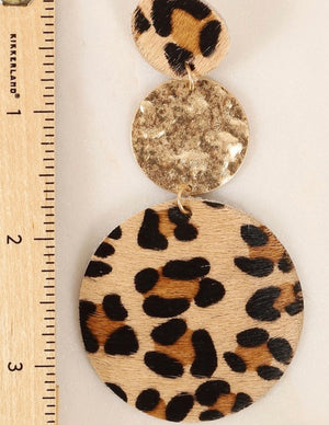 Cheetah Long Earrings