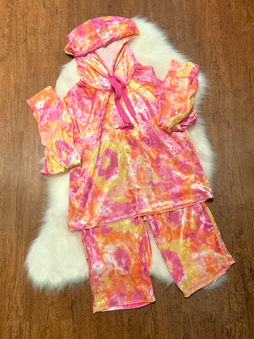Maddie Tie Dye Velveteen Two Piece Set