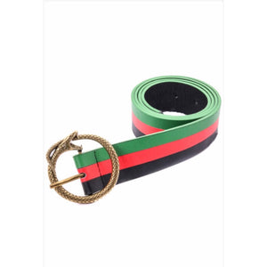 Guccy Multicolor Buckle Belt