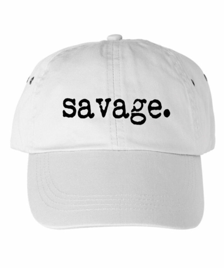 Savage White Cap