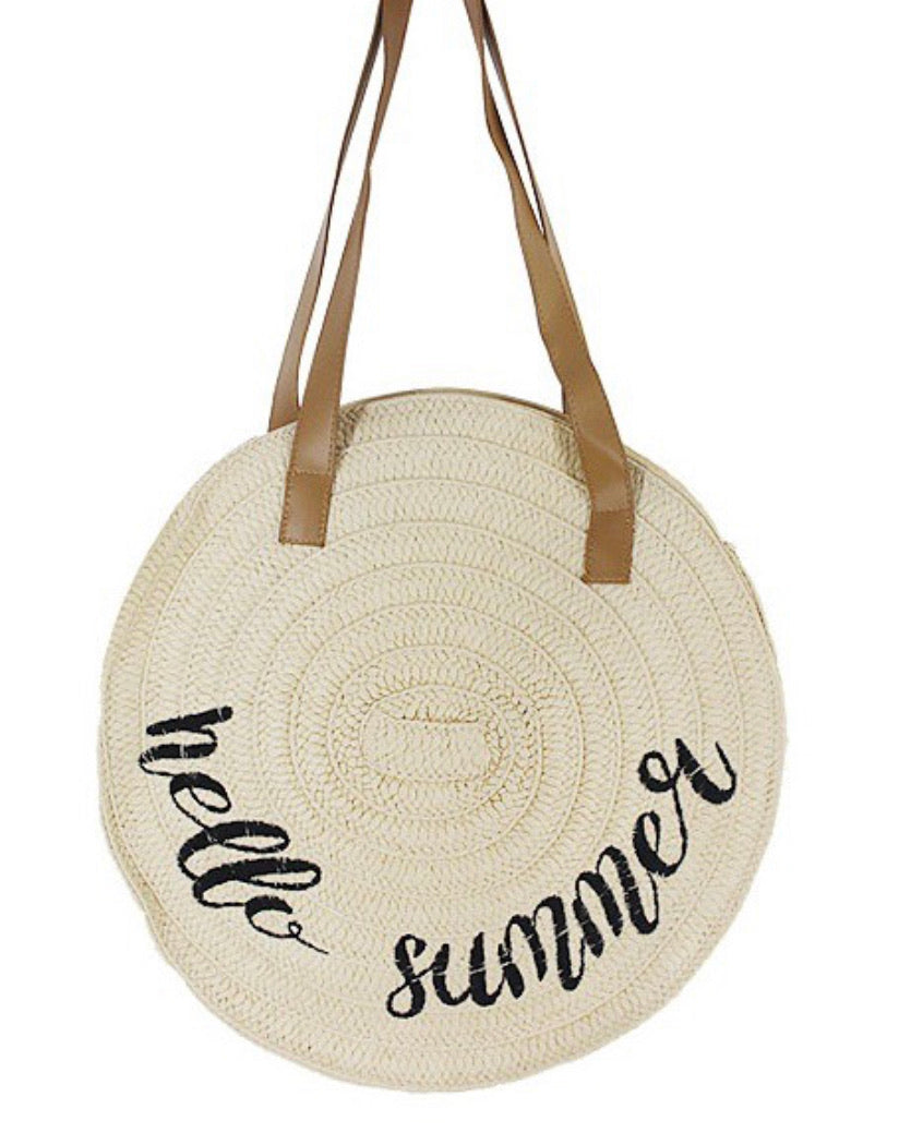 Hello Summer Straw Bag