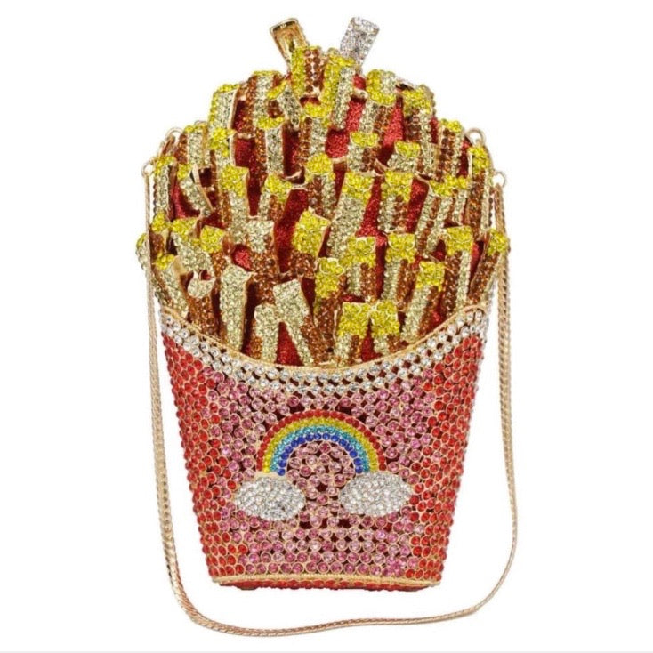 Hot Fries Crystal Clutch