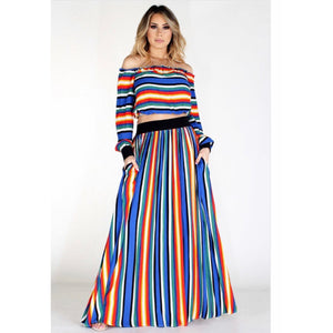 Nora Stripe Two Piece Set