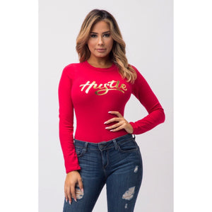 Hustle Red Bodysuit