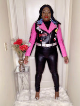 Load image into Gallery viewer, Boss Lady Pink Moto Jacket