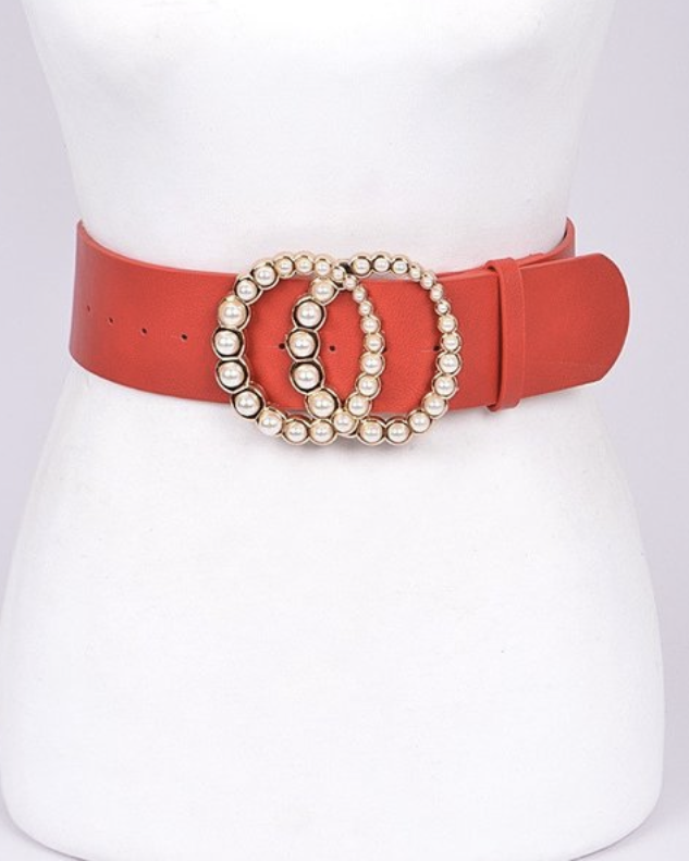 Donna Pearl Buckle Belt