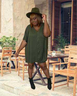 Neisha Oversized Tunic Top Set