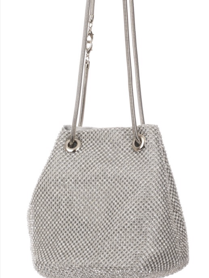Sassy Crystal Bucket Bag