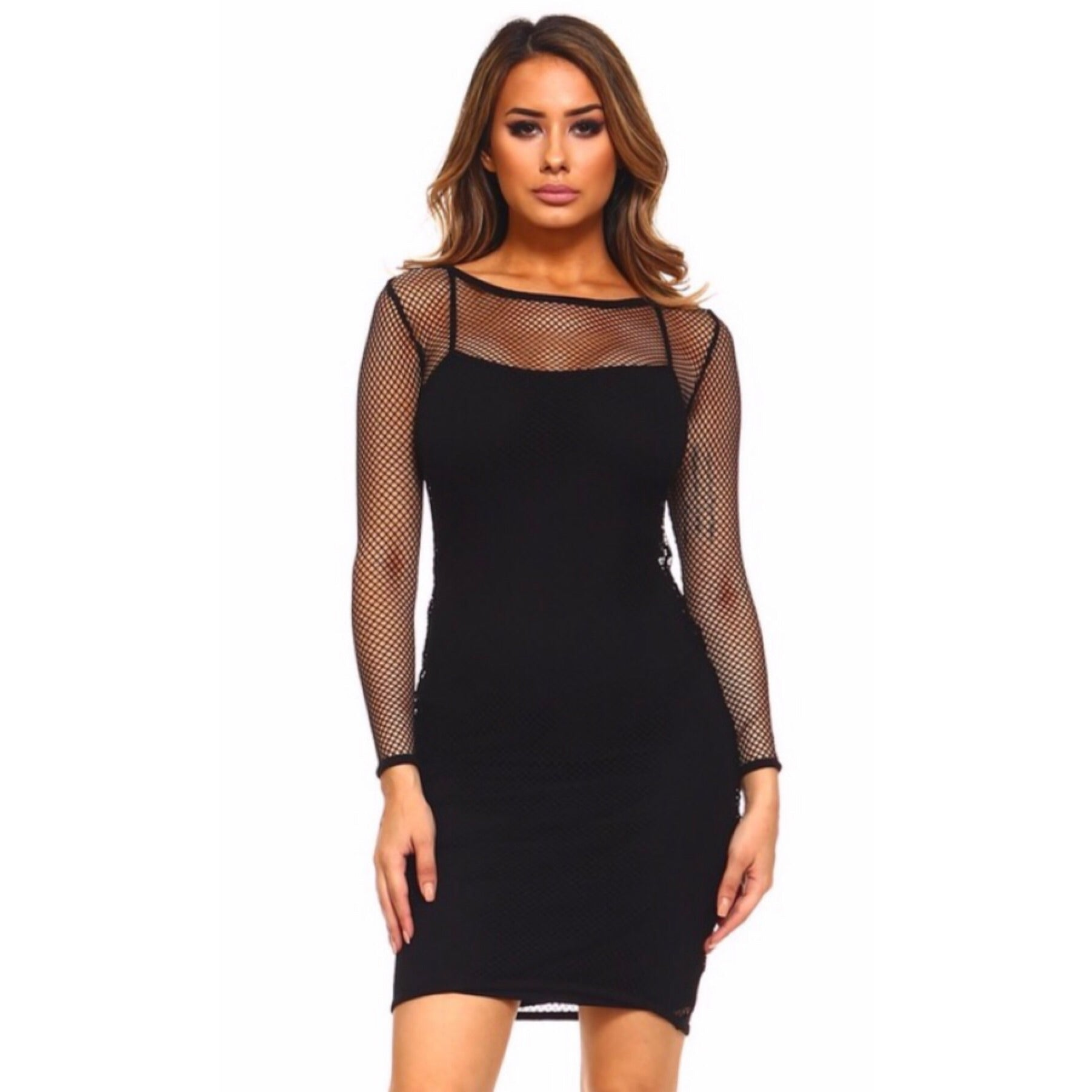 Samantha Black Mini Dress