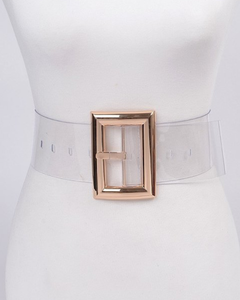 Clear Gold Buckle Belt