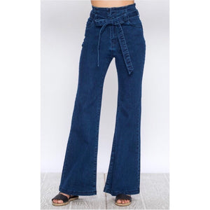 Coco Belted Denim High Waist Jeans
