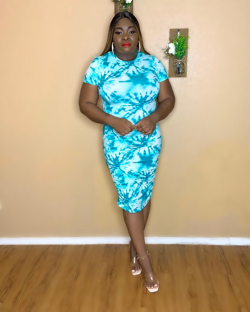 Havana Tie Dye Midi Dress