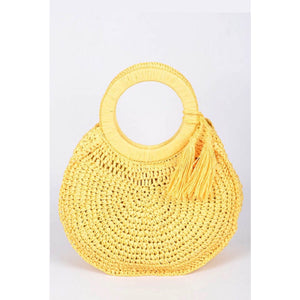 Margarita Yellow Woven Bag