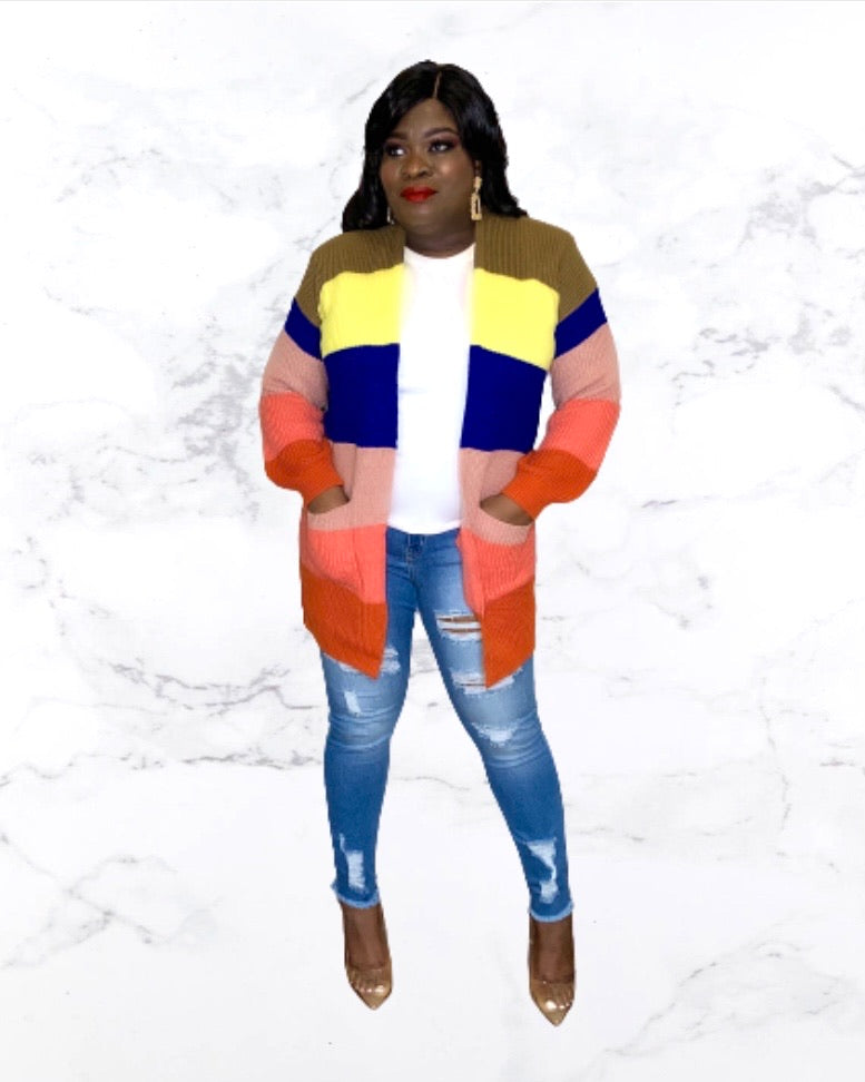 Color Blocking Cardigan