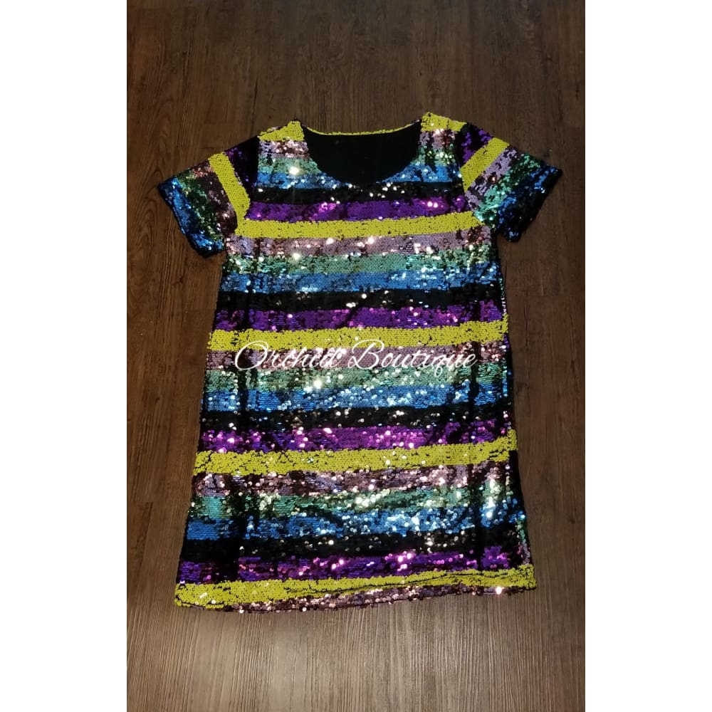 Jackie Sequin Mini Dress - Orchid Boutique