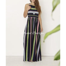 Load image into Gallery viewer, Jalissa Stripe Multicolor Maxi Dress - Orchid Boutique