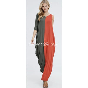Kara Color Block Maxi Dress - Orchid Boutique